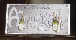 silver wedding anniversary large dl card 3d decoupage