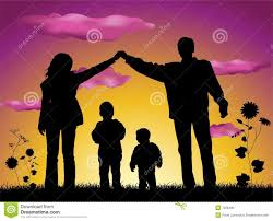 family making house silhouette stock photo image 7228490
