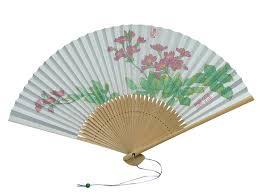 japanese folding fan item1 painted on japanese holding fan sado sensu kyo saisai