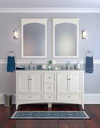 style your bathroom with chic cabinet ideas designoursign amazing bathroom vanity with white paint color feat frosted mirror idea and blue area rug design