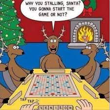 Dirty Santa Meme - santa is scared to play this game