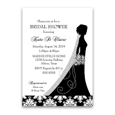 wedding shower damask wedding bridal shower invitations black white floral
