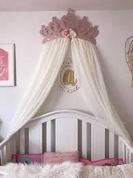 Rose Gold Bed Frame Crib Canopy Bed Crown Rose Gold Princess Wall Decor