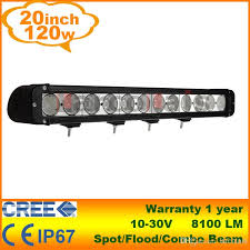 12v led light bar 20 120w cree led light bar work l tractor boat off road 4wd 4x4