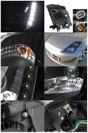 nissan 350z xenon ballast 05 nissan 350z hid model led drl projector headlights black