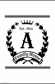 family crest template postermywall