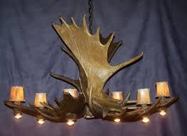 antler chandeliers and lighting company pool dining moose antler chandelier lamps by cdn rustic deer lodge