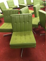 Furniture Jack Cartwright Furniture Home by Jack Cartwright Vintage Modern Green Swivel Chairs With Tufed