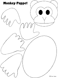 monkey puppet template pattern templates monkey
