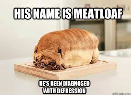 Meatloaf Meme - his name is meatloaf he s been diagnosed with depression