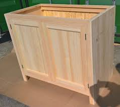 solid pine kitchen cabinet base unit with 2 doors in hounslow