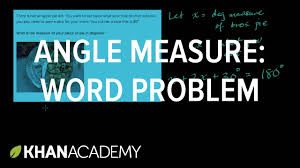 find measure of angles in a word problem geometry 7th grade