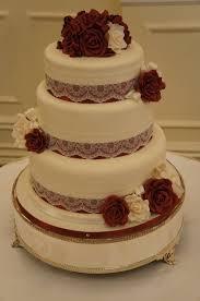 burgundy u0026 ivory wedding cake coppice cakes