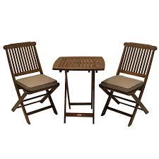 small patio table set sunny isles square brazilian eucalyptus 3 piece bistro set multiple