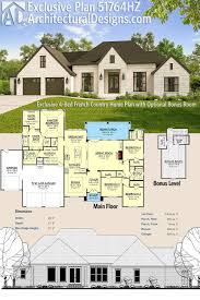 country homes plans plan 51764hz exclusive 4 bed country home plan with