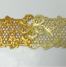 cake lace pearlised gold cake lace 200g by bowman