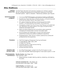 flight attendant resume sample with no experience