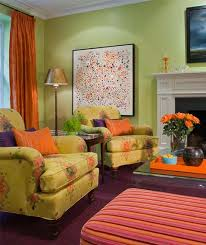Orange Living Room Decor Green And Orange Living Room Ideas Decorating Living Room