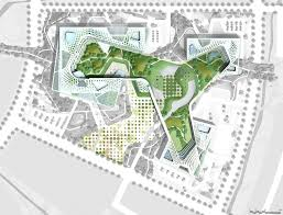 site plan design chung nam government complex successfully blurs the lines site