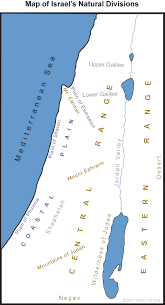 Fertile Crescent Map Map Of Israel U0027s Natural Divisions Bible History Online