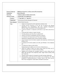 Facility Executive Resume Office Administration And Facility Management Resume Shanu Joy