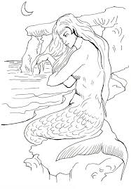 free mermaid coloring pages kids book 8281 unknown