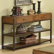 wood and iron sofa table american country wood console table wrought iron console table