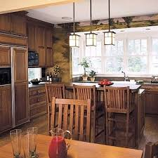 craftsman style pendant lighting mission style kitchen cabinets by
