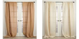 Beige And White Curtains Buy Burlap Curtains Rustic Style Curtain Panels