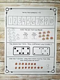november kindergarten daily spiral review math journal math