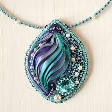 pendant magic pendant with shibori ribbon bead
