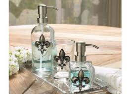 fleur de lis bathroom decor ideas on flipboard fleur de lis 4 piece bath set groupon goods vozindependiente