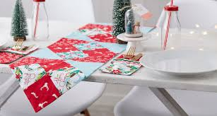 how to make table runner at home how to sew a christmas table runner hobbycraft blog