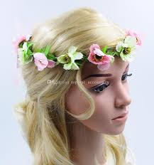 bohemian hair accessories wedding flower crown floral garlands for girl women lovely