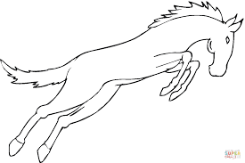 horse jumps coloring page free printable coloring pages