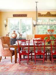 orange dining room cozy decorating orange red the inspired room