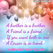 Happy Birthday Wishes For A Cousin Happy Birthday Wishes For Cousin Quotes Images Memes Happy