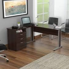 Curved Floor L Black Curved Computer Desk Wayfair