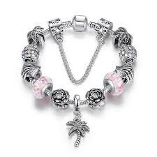 diy pandora charm bracelet images European pandora style charm bracelets with pink floral murano jpg