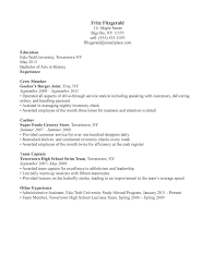Grocery Store Resume Sample by Sample Resume For A Restaurant Job Httpwwwresumecareerinfo Resume