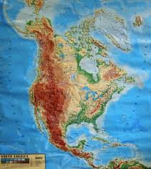 large raised relief map of america