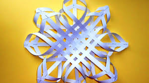snowflake out of paper christmas crafts with their hands youtube