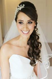 wedding hair veil hairstyles for hair half up with veil
