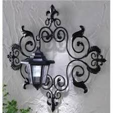 white shabby chic metal wall decor fleur de lis patio indoor