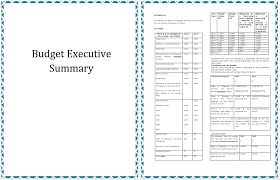template of executive summary template of annual budget planning microsoft