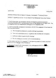 autopsy report template ar 15 6 investigation re legal review of ar 15 6 into death of documents