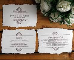 wedding invitation bundles vintage style wedding invitation by solographic