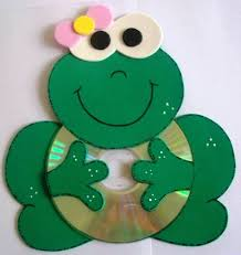 mouse hanging decoration recycled cd craft for kids education