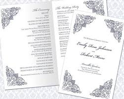 wedding ceremony bulletin template the 25 best wedding ceremony program template ideas on