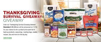 thanksgiving survival giveaway freebie